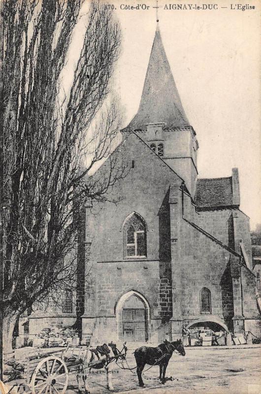 Carte postale ancienne Aignay Le Duc L'Eglise à Aignay-le-Duc