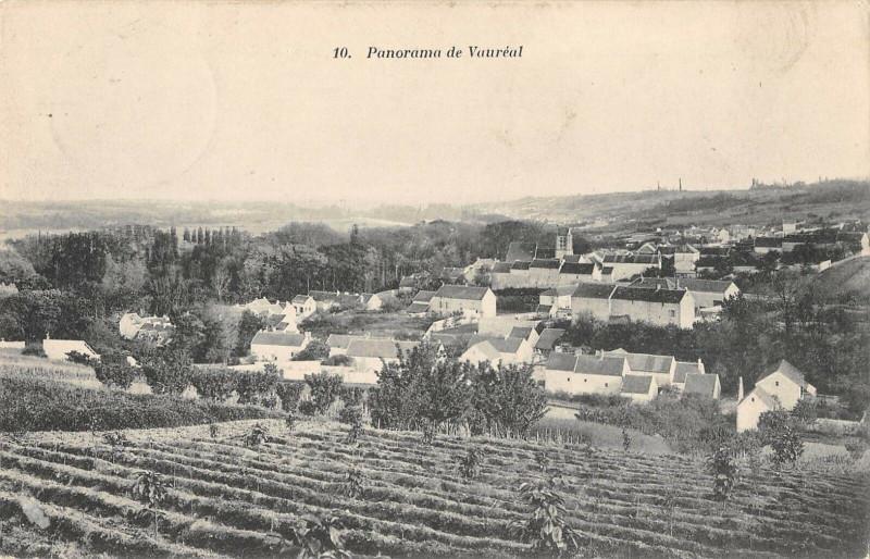 Carte postale ancienne Panorama De Vaureal à Vauréal