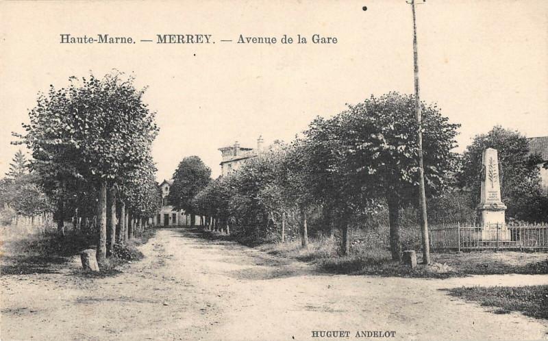 Carte postale ancienne Merrey Avenue De La Gare à Merrey