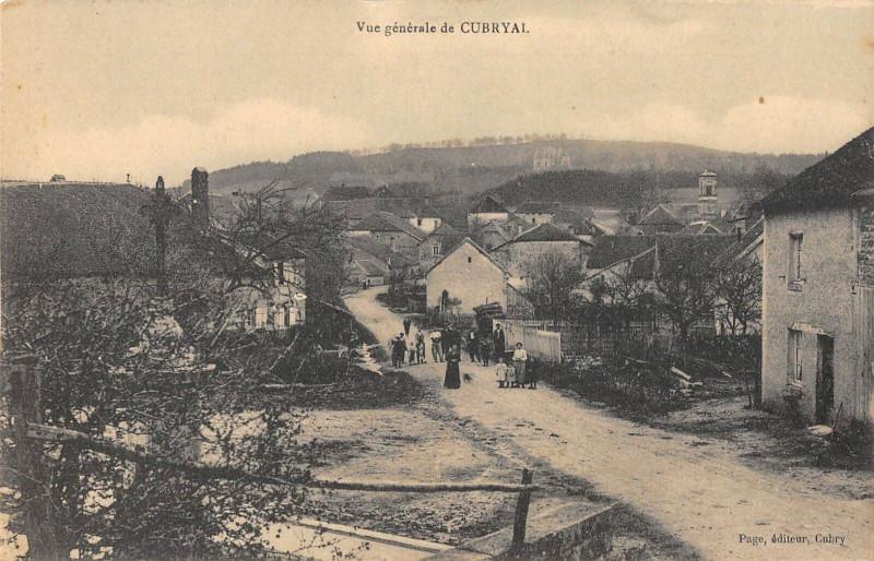 Carte postale ancienne Vue Generale De Cubryal à Cubry