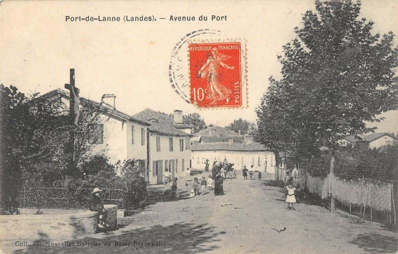 Carte postale ancienne Port De Lanne Avenue Du Port à Port-de-Lanne