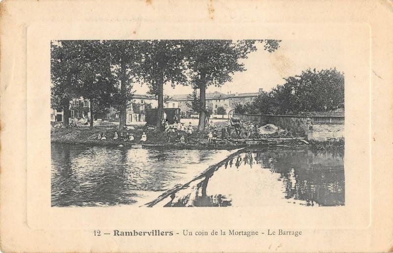 Carte postale ancienne Rambervillers Un Coin De La Mortagne Le Barrage (pas courante à Rambervillers