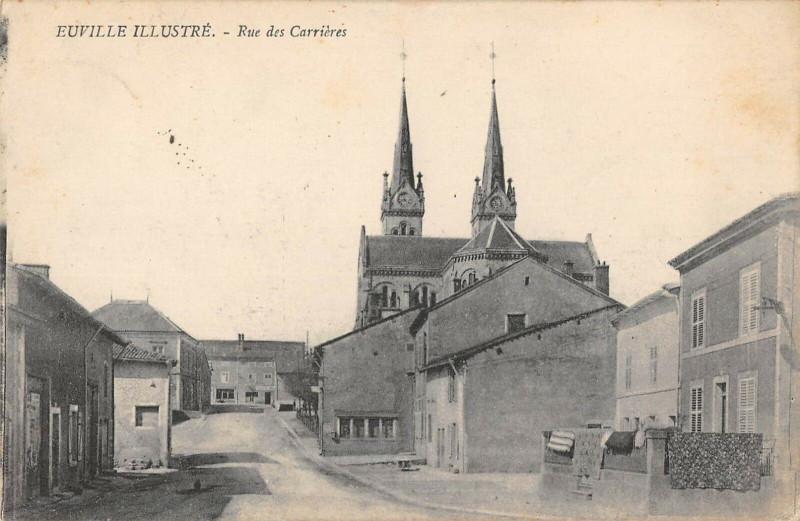 Carte postale ancienne Euville Rue Des Carrieres à Euville