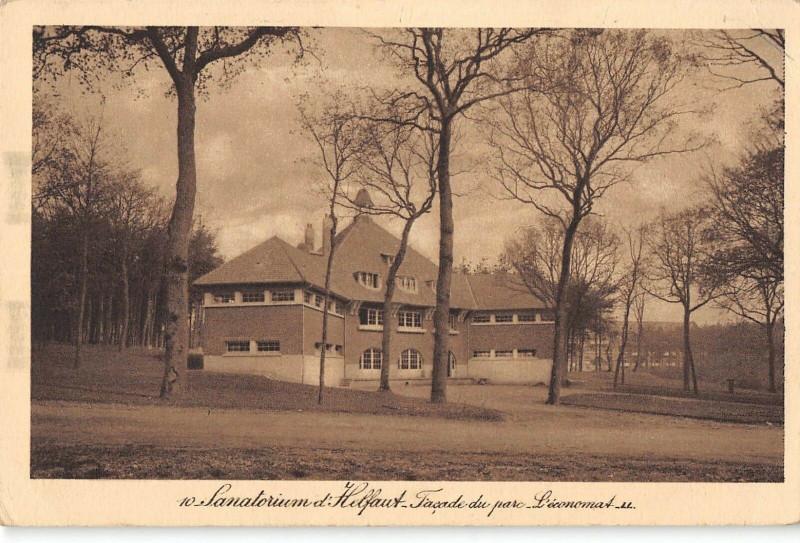 Carte postale ancienne Sanatorium D'Helfaut Facade Du Parc L'Economat (cliché pas courant à Helfaut