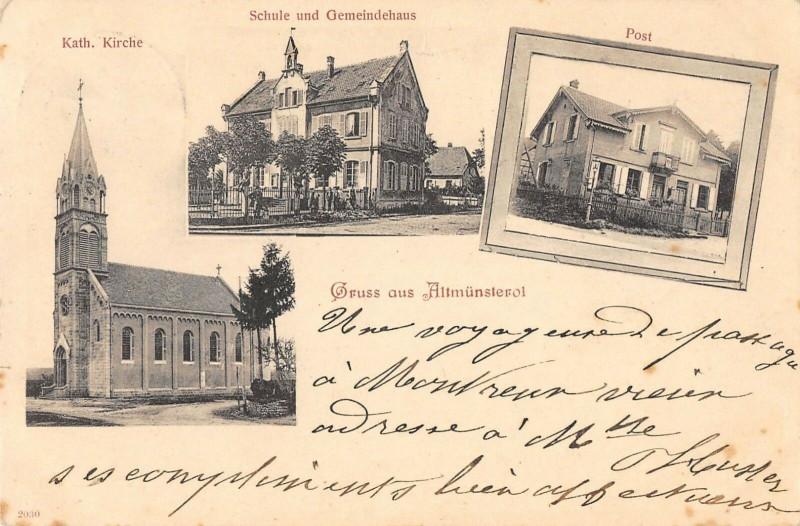 Carte postale ancienne Gruss Aus Alt Munsterol (dos non divisé) à Munster