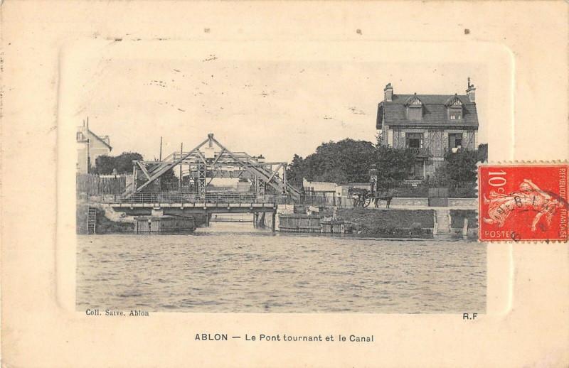 Carte postale ancienne Ablon Le Pont Tournant Et Le Canal