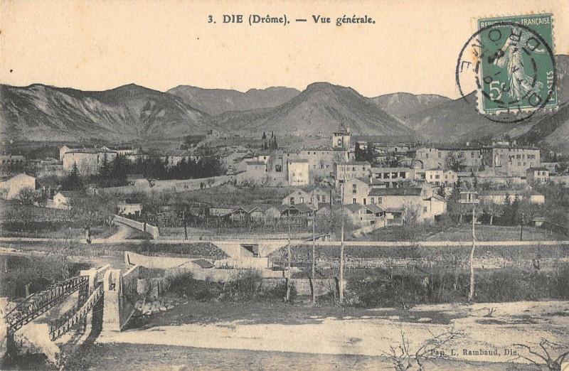 Carte postale ancienne Die  Vue Generale à Die