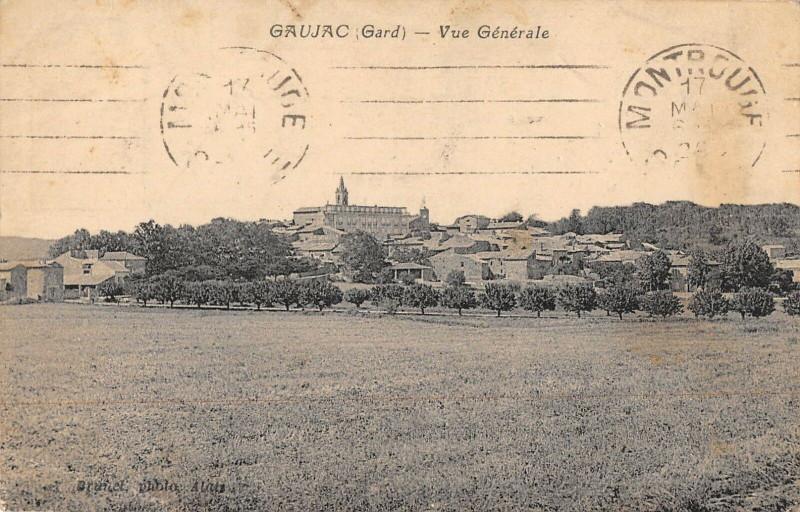 Carte postale ancienne Gaujac Vue Generale à Gaujac