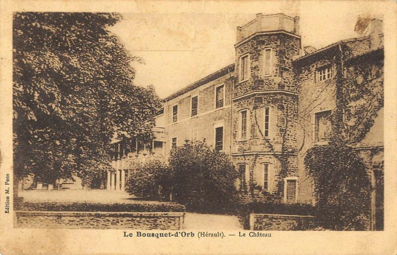 Carte postale ancienne Le Bousquet D'Orb Le Chateau au Bousquet-d'Orb