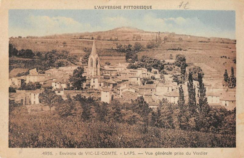 Carte postale ancienne Laps Vue Generale Prise Du Verdier à Laps
