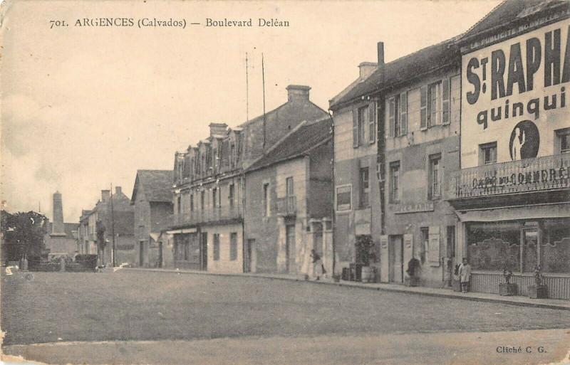 Carte postale ancienne Argences Boulevard Delean à Argences