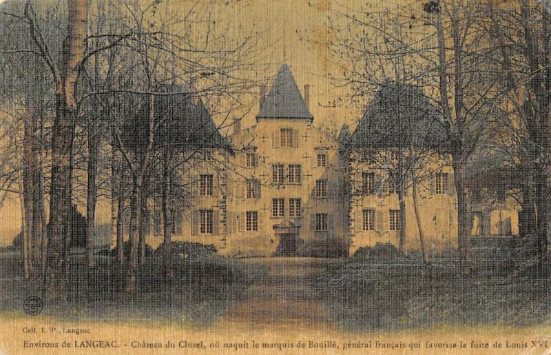 Carte postale ancienne Environs Langeac Chateau Du Cluzel (cpa toilée à Langeac