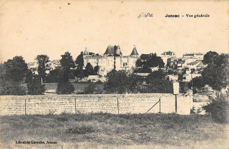 Carte postale ancienne Jonzac Vue Generale à Jonzac
