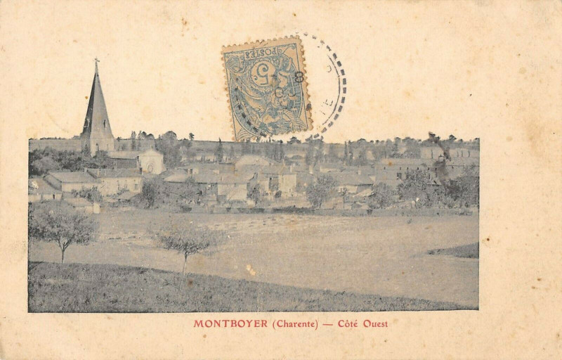 Carte postale ancienne Montboyer Cote Ouest à Montboyer