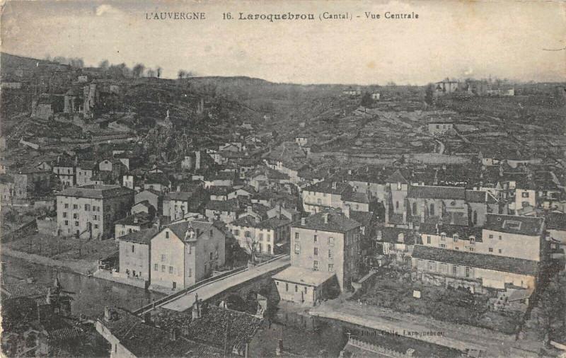 Carte postale ancienne Laroquebrou Vue Generale à Laroquebrou