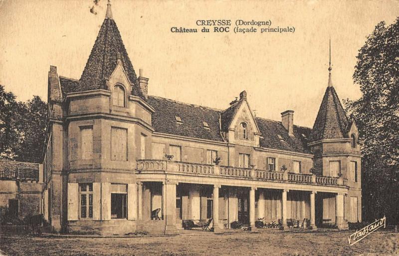 Carte postale ancienne Creysse Chateau Du Roc à Creysse
