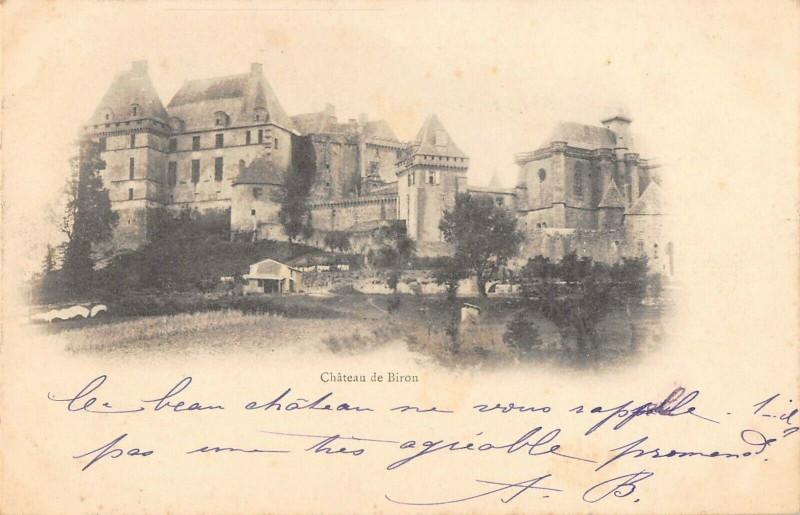Carte postale ancienne Chateau De Biron à Biron