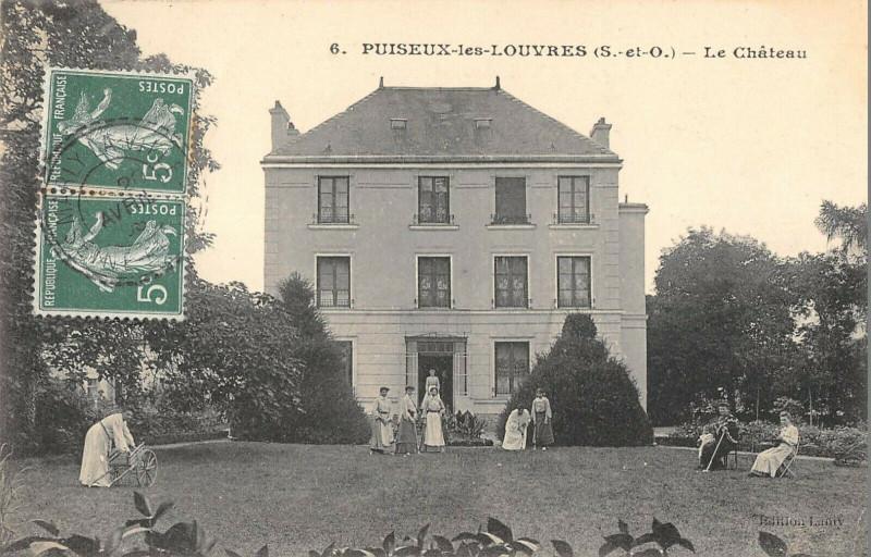 Carte postale ancienne Puiseux Les Louvres Le Chateau à Louvres