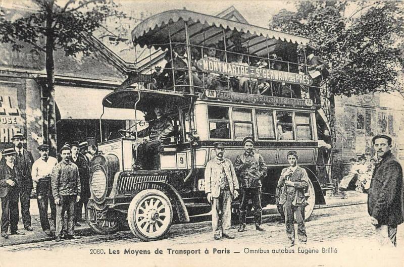 Carte postale ancienne Les Moyens de Transport à Paris - Omnibus autobus Eugène Brillié à Paris