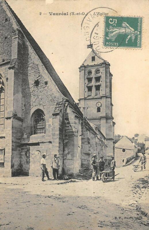Carte postale ancienne Vaureal Eglise à Vauréal