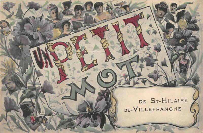 Carte postale ancienne Un Petit Mot De Saint Hilaire De Villefranche à Saint-Hilaire-de-Villefranche