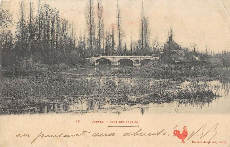 Carte postale ancienne Jarnac Pont Des Soupirs à Jarnac