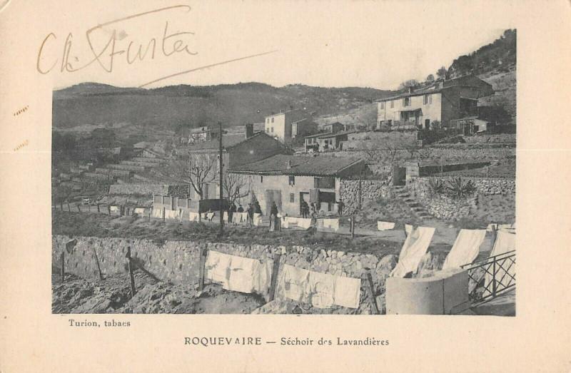 Carte postale ancienne Roquevaire Sechoir Des Lavandieres à Roquevaire