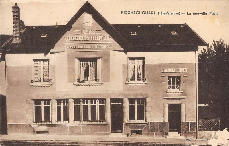 Carte postale ancienne Rochechouart La Nouvelle Poste à Rochechouart