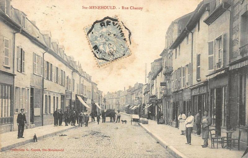 Carte postale ancienne Sainte Menehould Rue Chanzy à Sainte-Menehould