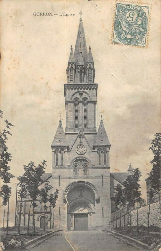 Carte postale ancienne Gorron Eglise à Gorron
