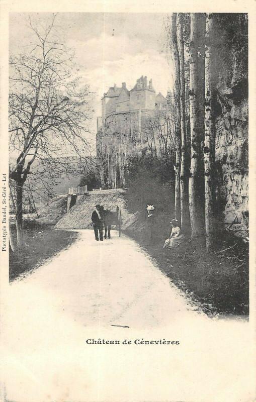 Carte postale ancienne Chateau De Cenevieres à Cénevières