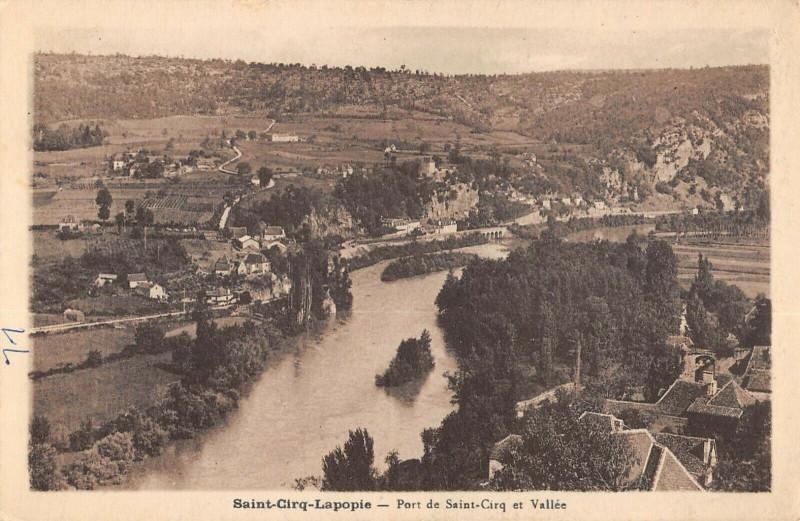Carte postale ancienne Saint Cirq Lapopie Port DeSaint-Cirq Et Vallee à Saint-Cirq-Lapopie