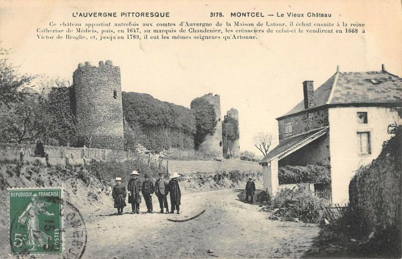 Carte postale ancienne Montcel Vieux Chateau à Montcel
