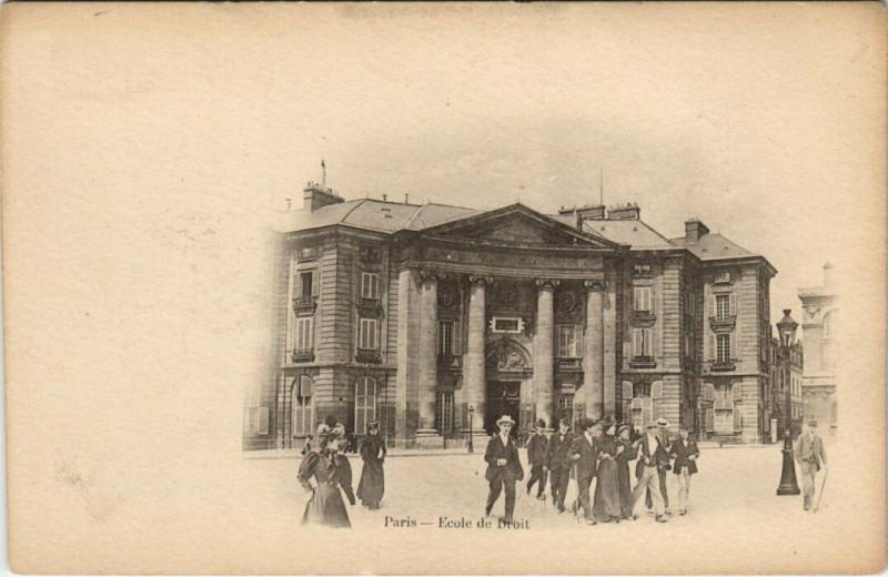 Carte postale ancienne Ecole de Droit à Paris 5e