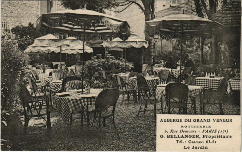 Carte postale ancienne Paris 17e - Auberge du Grand Veneur 6 Rue Demours à Paris 17e