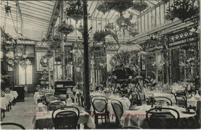 Carte postale ancienne Paris 17e - Champeaux - Jardin d'hiver à Paris 17e