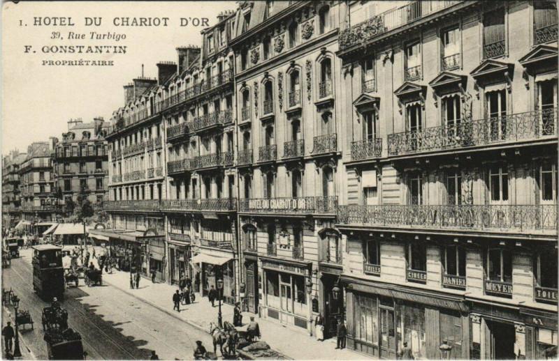 Carte postale ancienne Paris 3e - Hotel du Chariot D'Or à Paris 3e