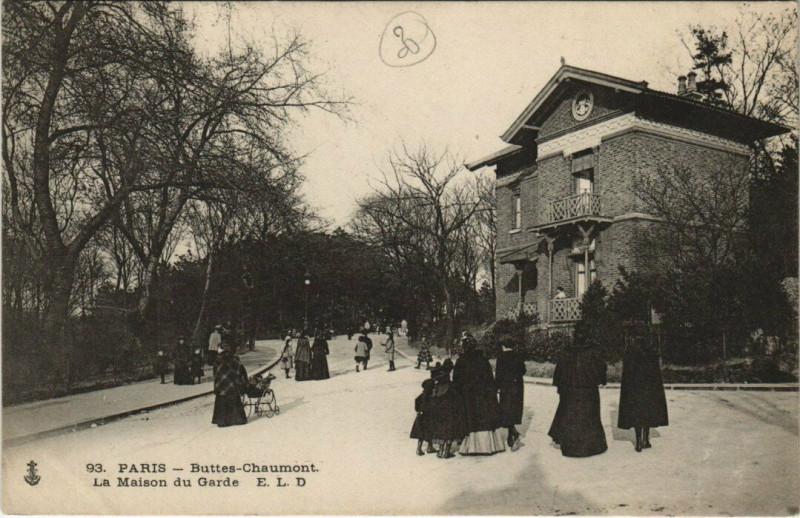 Carte postale ancienne Buttes-Chaumont - La Maison du Garde à Paris 19e