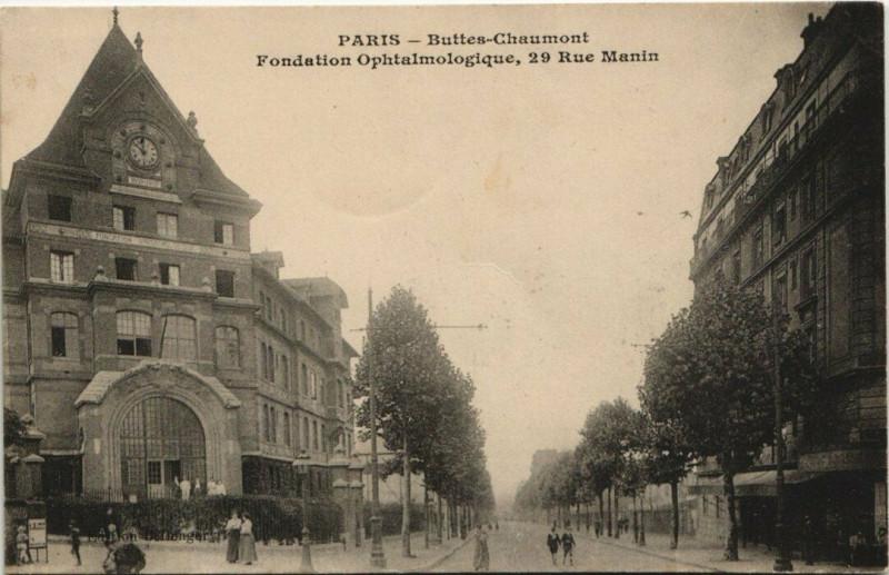Carte postale ancienne Buttes-Chaumont - Fondation Ophtalmologique à Paris 19e