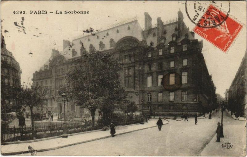 Carte postale ancienne La Sorbonne à Paris 5e