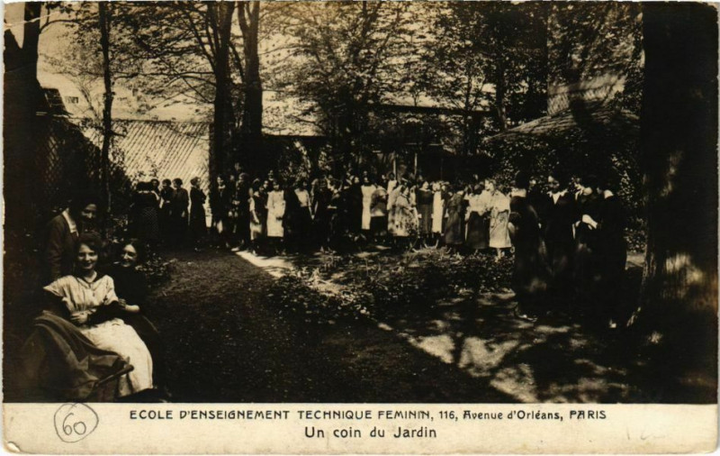 Carte postale ancienne Paris 13e - Ecole d'Enseignement Technique Feminim  à Paris 13e