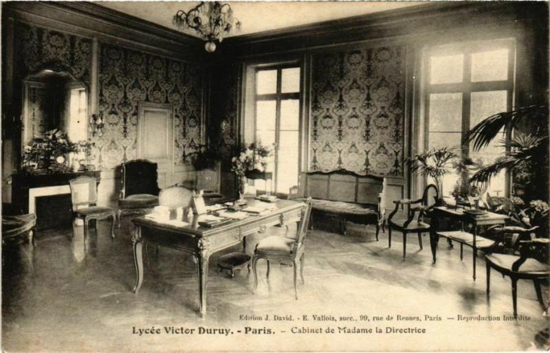 Carte postale ancienne Paris 13e - Lycée Victor Duruy  à Paris 13e