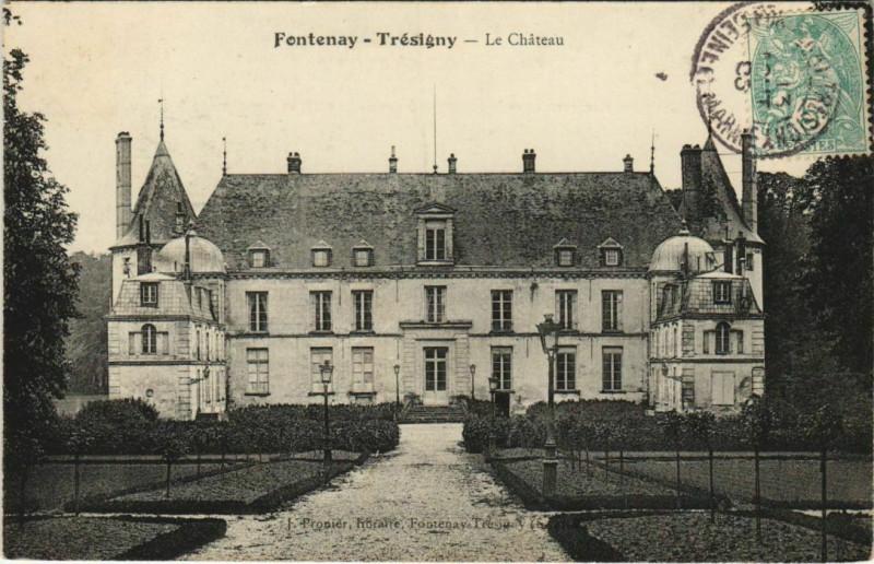 Carte postale ancienne Fontenay-Tresigny Le Chateau France  à Fontenay-Trésigny