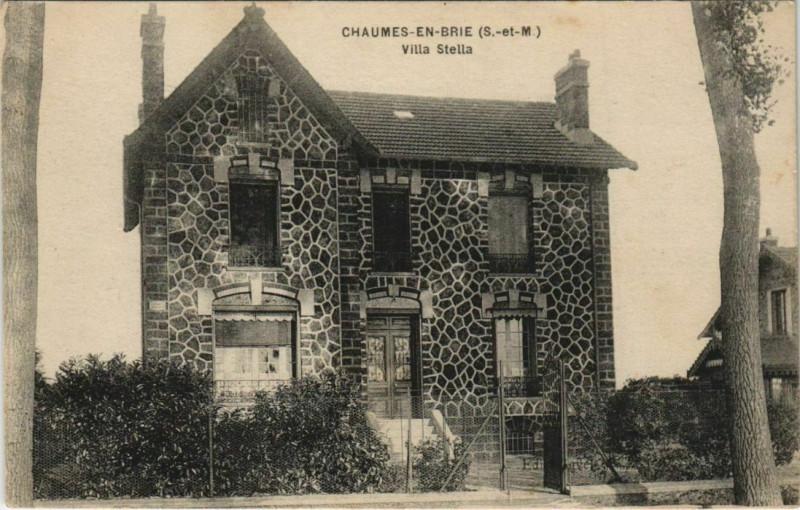 Carte postale ancienne Chaumes-en-Brie Villa Stella à Chaumes-en-Brie