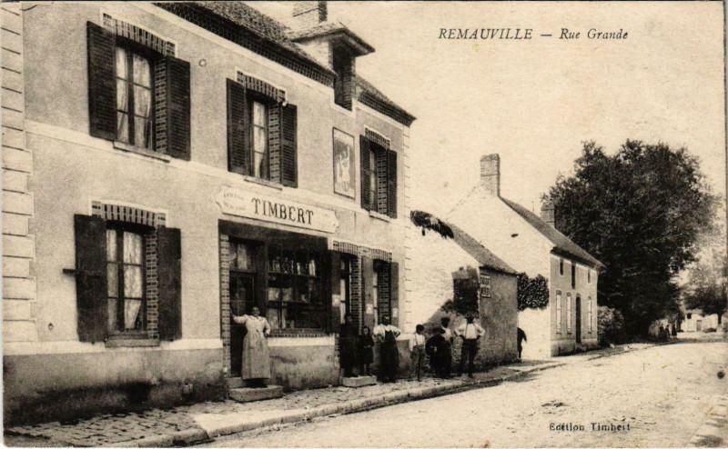 Carte postale ancienne Remauville Rue Grande à Remauville