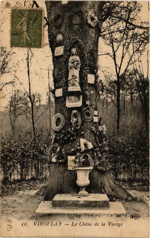 Carte postale ancienne Le Chêne de la Vierge à Viroflay