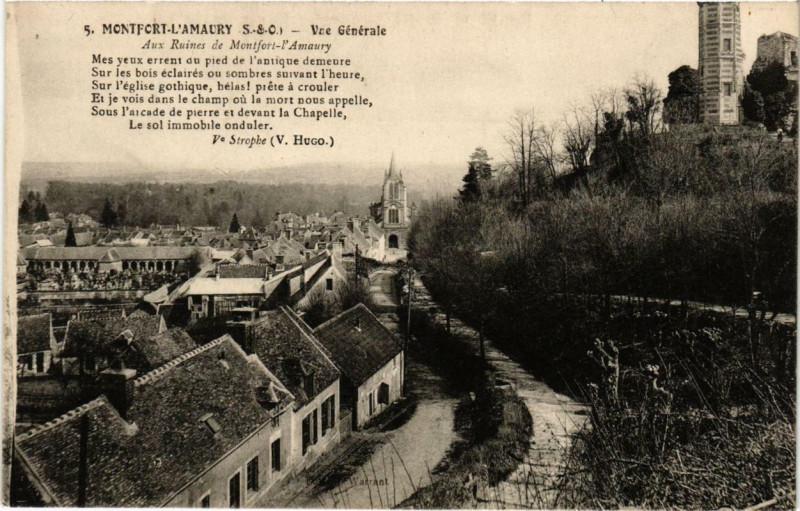 Carte postale ancienne Montfort-L'Amaury Vue générale à Montfort-l'Amaury