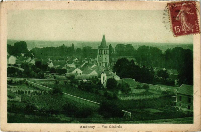 Carte postale ancienne Andresy - Vue générale à Andrésy