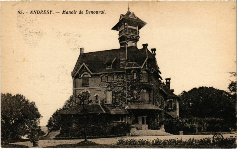 Carte postale ancienne Andresy - Manoir de Denouval à Andrésy