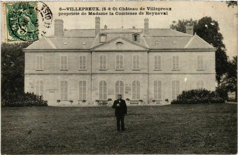 Carte postale ancienne Villepreux - Chateau de Villepreux propriete de Madame la COMTEsse à Villepreux